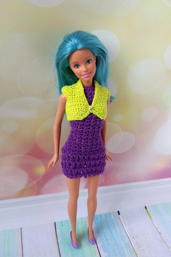 BLACK /& WHITE STRIPED DRESS  stretches fits curvy NEW BARBIE DOLL PINK,LAVENDER