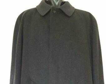 Lussuoso Cappotto sartoriale in lana e cashemere rifinito a mano uomo  vintage originale anni 70 Made in Itay a4def22ebc5