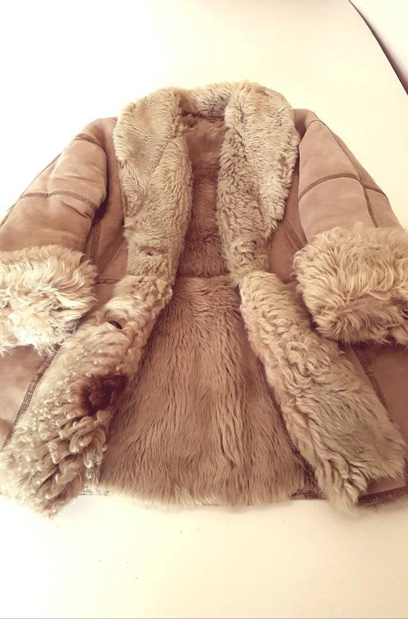 huge discount c3b1d 22d95 Cappotto shearling originale spagnolo 80s in vera pelle e pelliccia  d'agnello rovesciata Tg L
