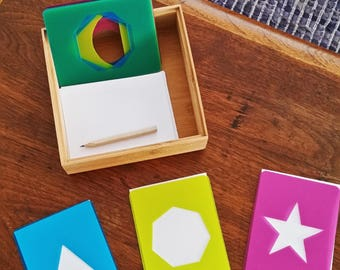 Montessori Inspired Geometric Stencils Blueprint