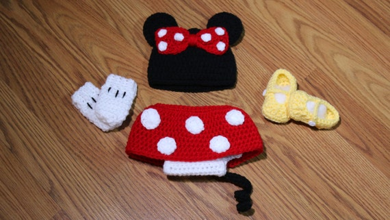 Crochet Minnie Mouse Outfit Minnie Mouse Outfit Minnie Etsy