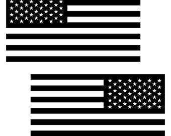 46af693d2f61 2 U.S. Flags Reversed Permanent Art Decals