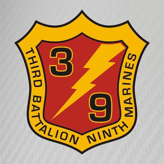 USMC 3rd Battalion 1st Marines Insignia Military Graphics Decal Sticker Car