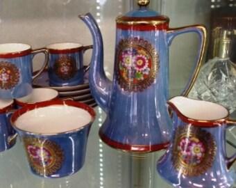Noritake six-place Blue Lustre Coffee Set