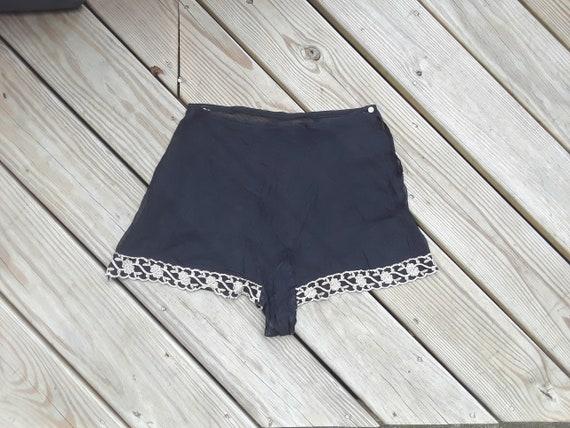 1920s Tap Pants Black Sheer with Beautiful Pink fl