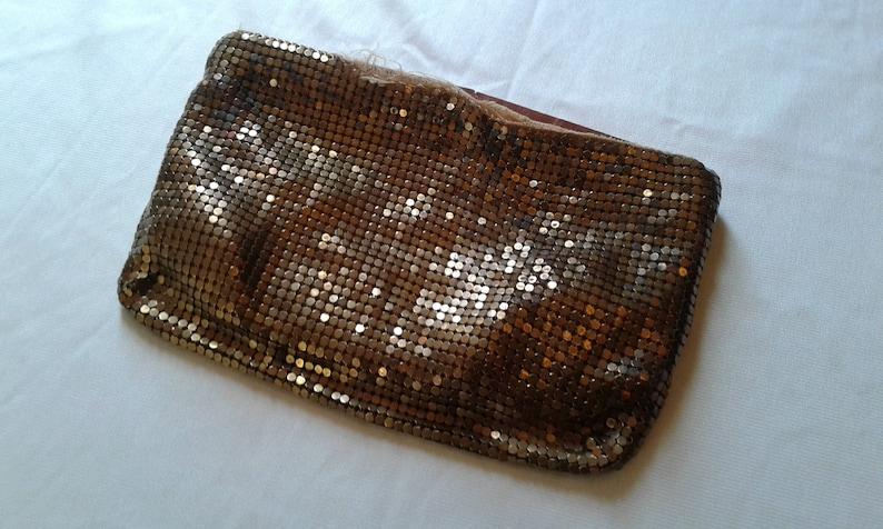 1920/'s Gold Mesh Coin Purse Whiting And Davis Vintage Makeup bag Gold Art Deco Purse Change Purse Bridal Wedding 1920s makeup bag 1930s
