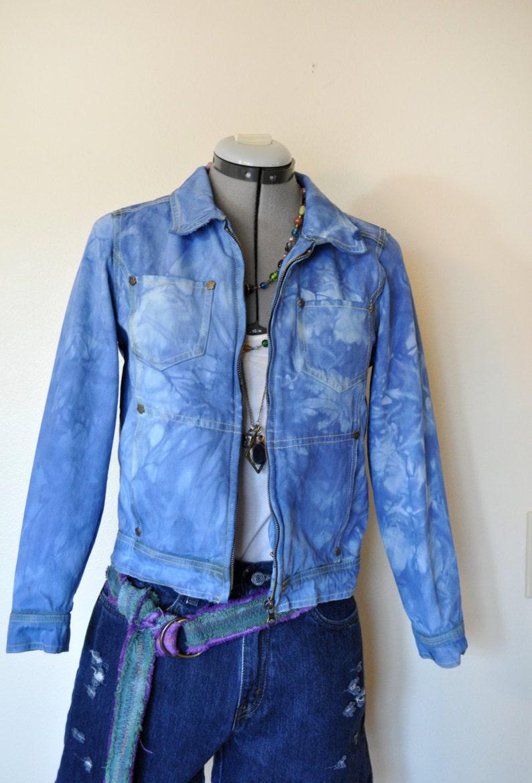 6d6a293e861 Azul tamaño de niño grande chaqueta vaquera azul teñido