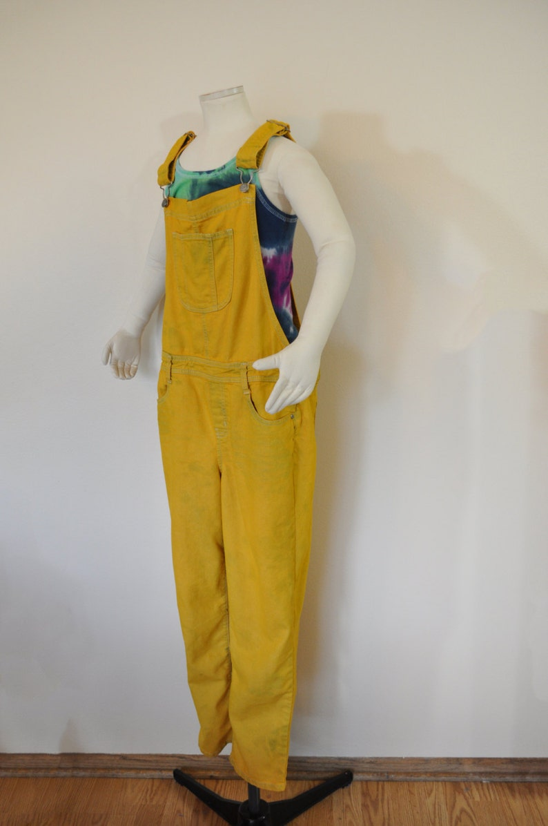 2945b1894a6 Gold Kid 14 16 Year XL Bib OVERALL Pants Gold Yellow Dyed