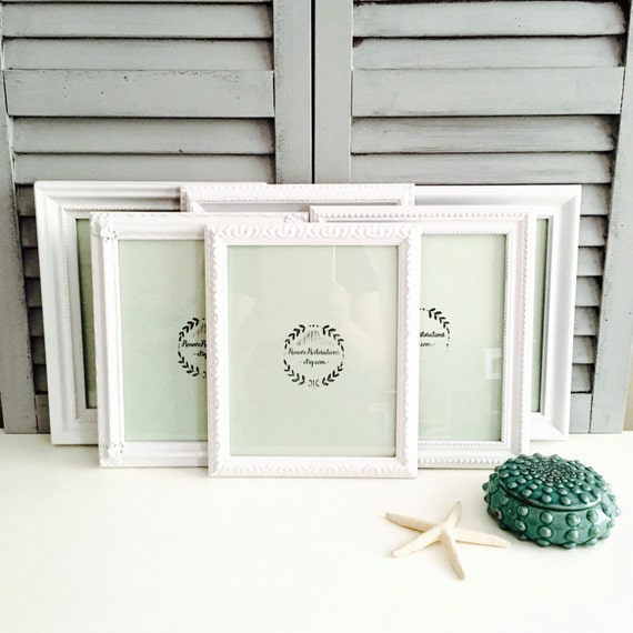 8x10 White Picture Frames Set Custom Ornate Picture Frames | Etsy