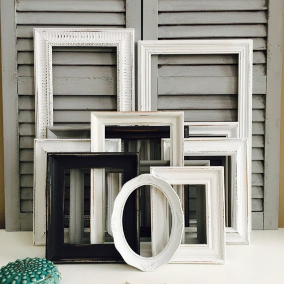 Black And White Picture Frame Collage Distressed Picture Etsy