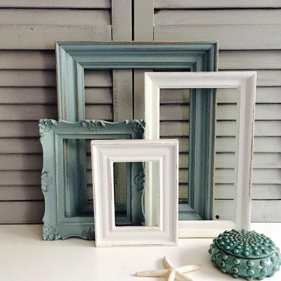 Sea Foam Green Gallery Wall Frame Set; Hand-Painted Frame Set ...