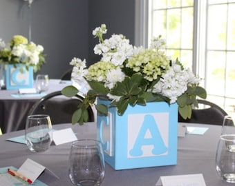 ABC Baby Block Centerpiece Block, Baby Boy Centerpieces, Baby Shower  Centerpiece,Table Centerpieces, Baby Shower Decor