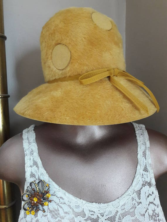 AMAZING and Iconic 60s Betmar Polka Dot Cloche Hat