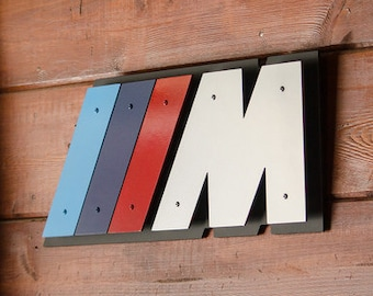 "BMW ///M (M3) Steel Sign  -  20"" x 8"""