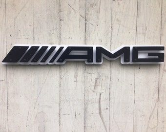 "Mercedes AMG Steel Sign / Wall Art - 30"" x 5"""