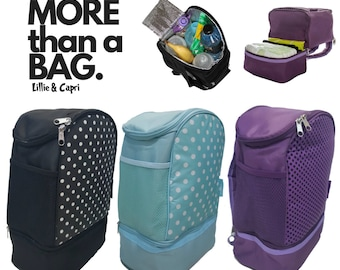 Insulated back pack blue & purple only black out of stock