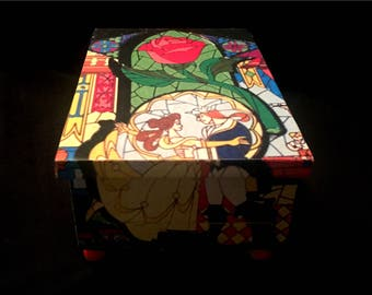 Beauty and the beast ring box Etsy
