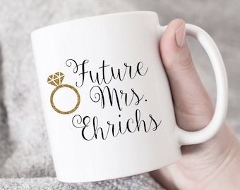 future mrs coffee mug personalized bride to be engagement gift bridal shower 010