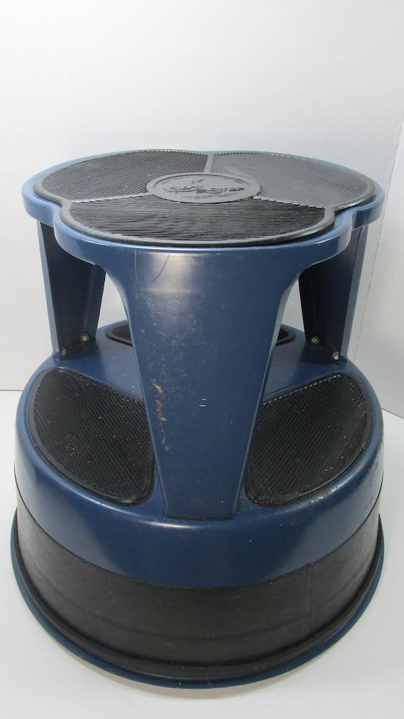 Wondrous Vintage Cramer Industries Kik Step Stool On Wheels In Blue Customarchery Wood Chair Design Ideas Customarcherynet