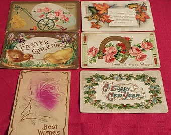 Vintage Holiday Postcard Lot