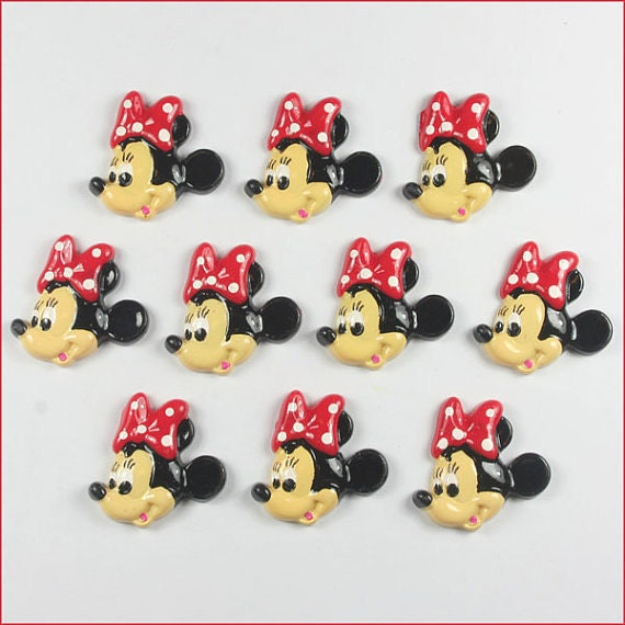 C450 Resin mini mouse flatback Scrapbooking for phone//Wedding craft DIY