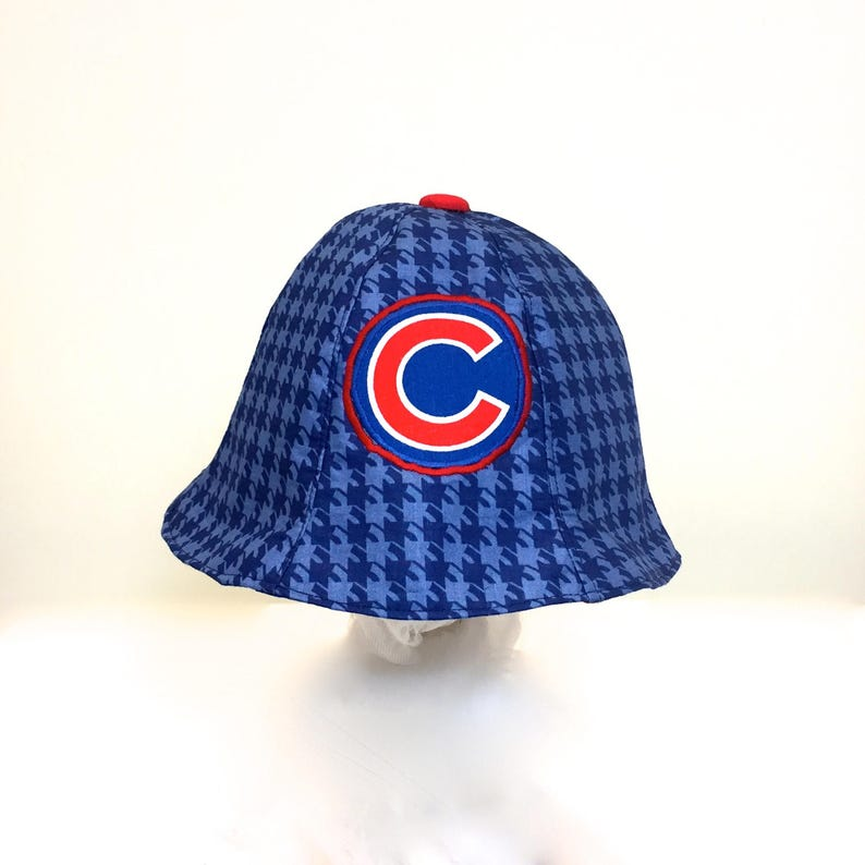 722359b9 Chicago Cubs sunhat for baby reversible Cubs hat two hats in | Etsy