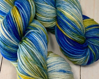 Land & Sky - Hand dyed on Authentic DK
