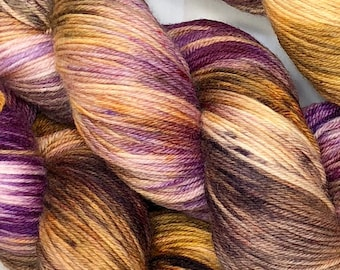 Arizona Sunset - Hand dyed on Blissful MCN Sock