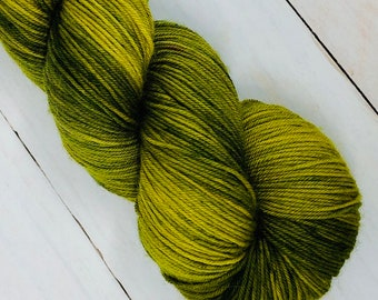 Green With Envy - Hand dyed on Authentic Sock