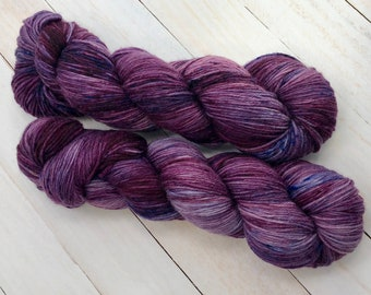 Purple Squid - Hand dyed on Blissful MCN Sock