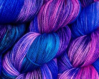 Slushie - Hand dyed on Balanced Sock