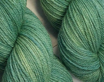 Sage - Hand dyed on Cormo & CVM Sock Weight Yarn