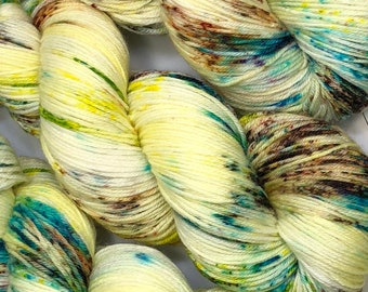 Easy Peasy Lemon Squeezy - Hand dyed on Blissful MCN Sock