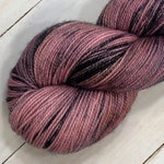 At the Hop. Hand dyed sock yarn, superwash merino & nylon, 400 yds / 100 grams. Great for knitting, crocheting, weaving