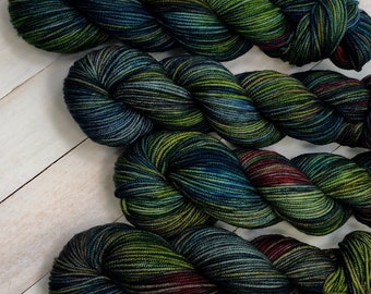 Monster of the Deep - Hand dyed on Cable Worsted