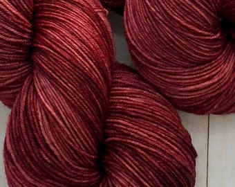 Mahogany - Hand dyed on Authentic Sock