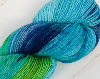 Calypso - Hand dyed on Balanced Sock