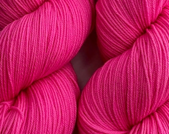 Pink Cadillac - Hand dyed on Authentic Sock