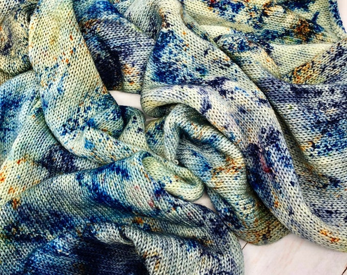 Featured listing image: Ocean Side - Hand dyed Authentic Sock Blank