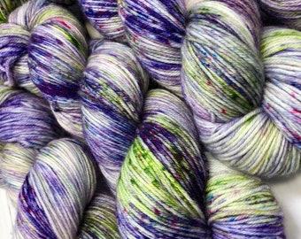 Purple Orchid - Hand dyed on Blissful MCN Sock