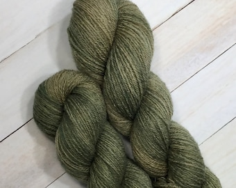 Faded Khaki - Hand dyed on 100% BFL Fingering Weight Yarn