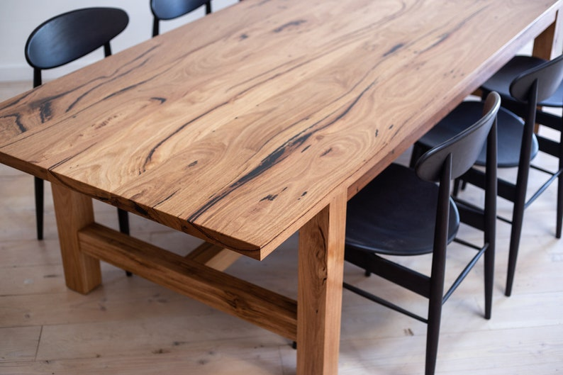 newest bdf29 e77d7 Rustic solid timber farmhouse dining table - made to order