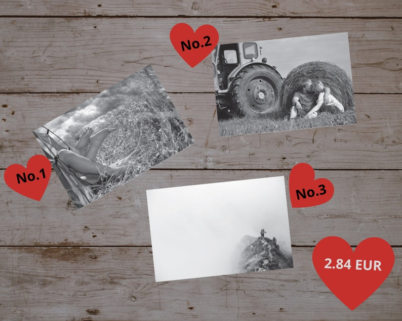 Valentine's Day mailbox Send postcard Love Secret letter Postcard #3
