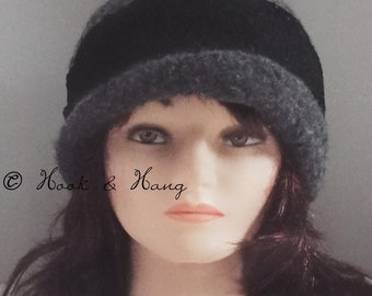Felted Vintage Style Narrow Brimmed Cloche *PATTERN ONLY*