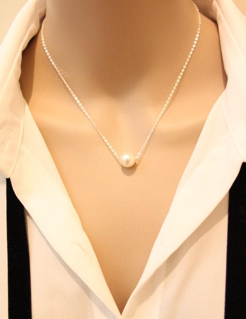 a470c520b2a0 Llena de simple collar de perlas collar de perlas solo
