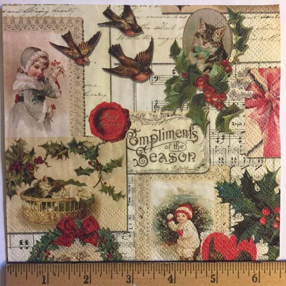 X106 Woodland raccoon Xmas Christmas 4 Single paper decoupage napkins