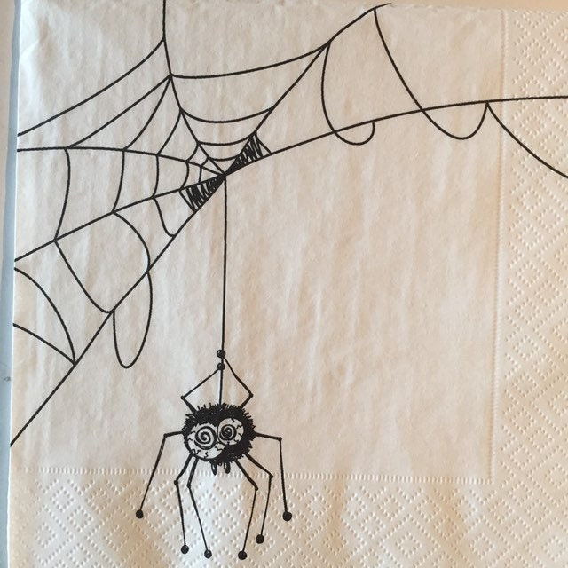 Halloween Spider Napkins Page Two