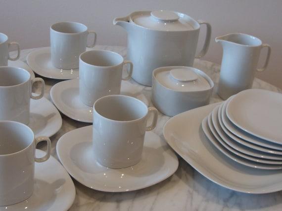 """2 Block Langenthal Switzerland Transition White Dinner Plates 10 1//4"""" Gulotta"""