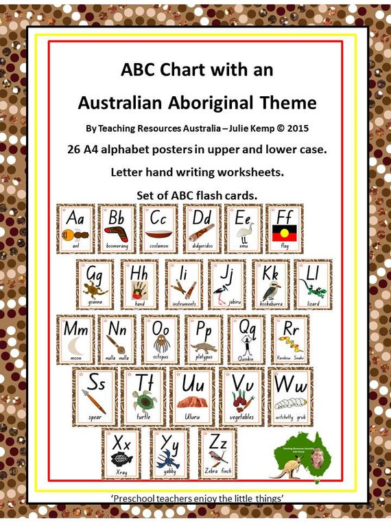 Aboriginal abc chart flash cards letter tracing etsy image 0 thecheapjerseys Gallery
