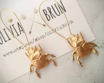 Scarab Earrings Beetle Earrings Bug Earrings Insect Earrings Scarab Jewelry Beetle Jewelry Insect Jewelry Dangle Earrings Drop Earrings